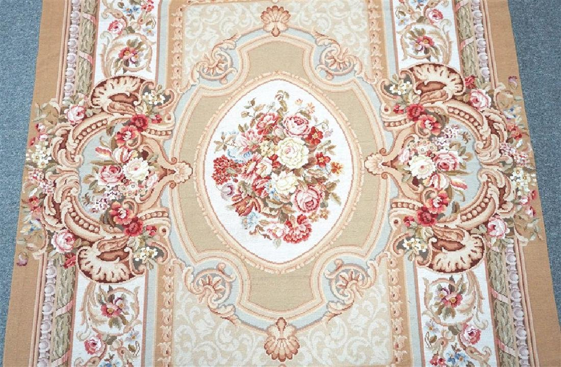 FRENCH SAVONNERIE RUG ROSES - 2