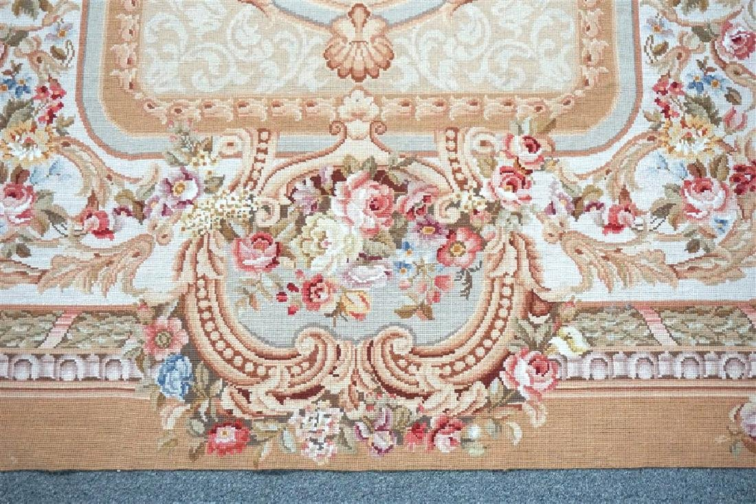 FRENCH SAVONNERIE RUG ROSES - 3
