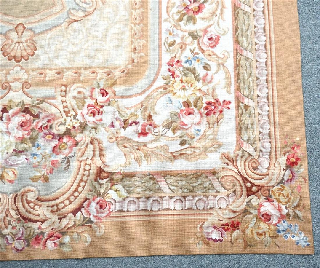 FRENCH SAVONNERIE RUG ROSES - 4