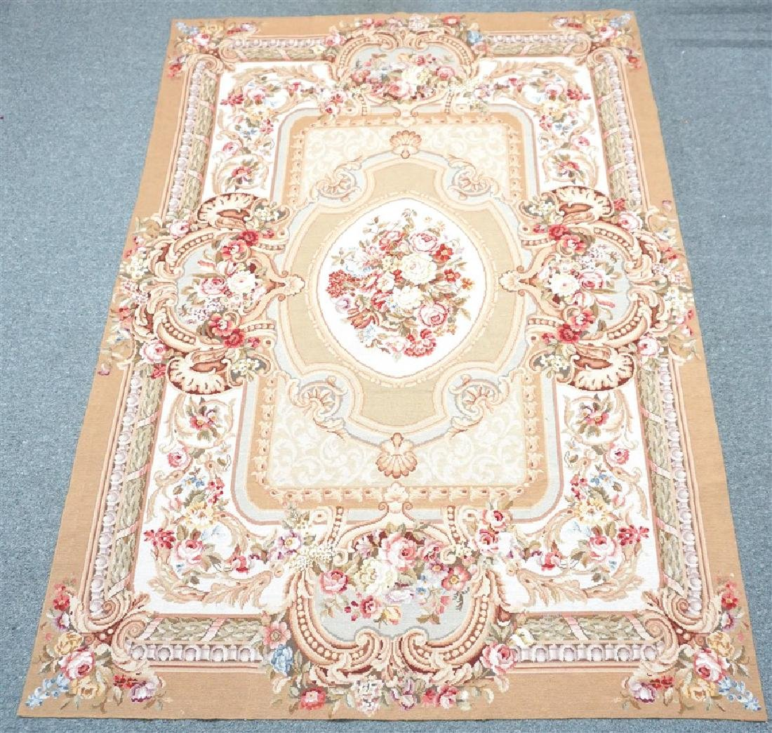 FRENCH SAVONNERIE RUG ROSES - 5