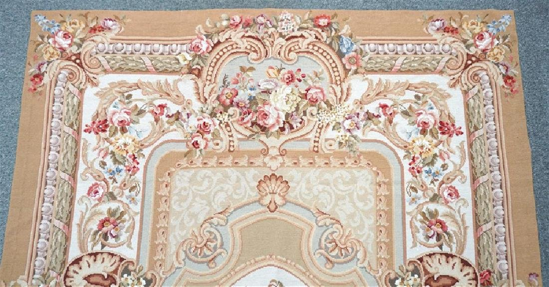 FRENCH SAVONNERIE RUG ROSES - 6