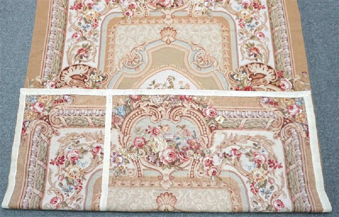 FRENCH SAVONNERIE RUG ROSES - 7