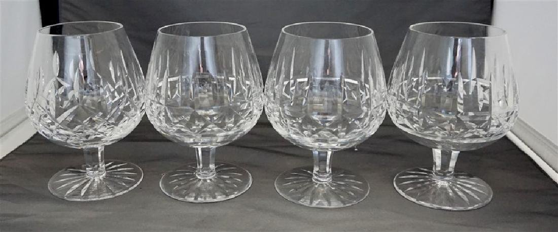 4PC WATERFORD CRYSTAL SNIFTERS