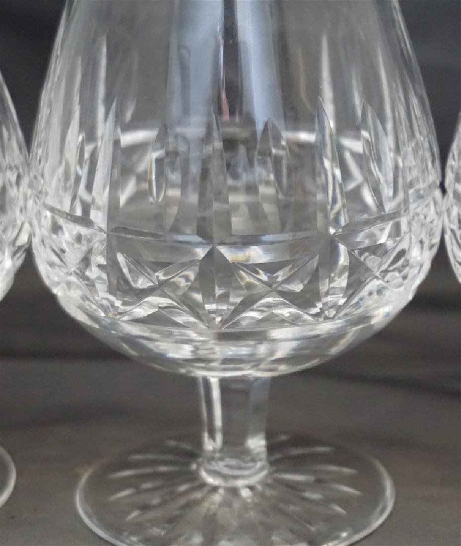 4PC WATERFORD CRYSTAL SNIFTERS - 2