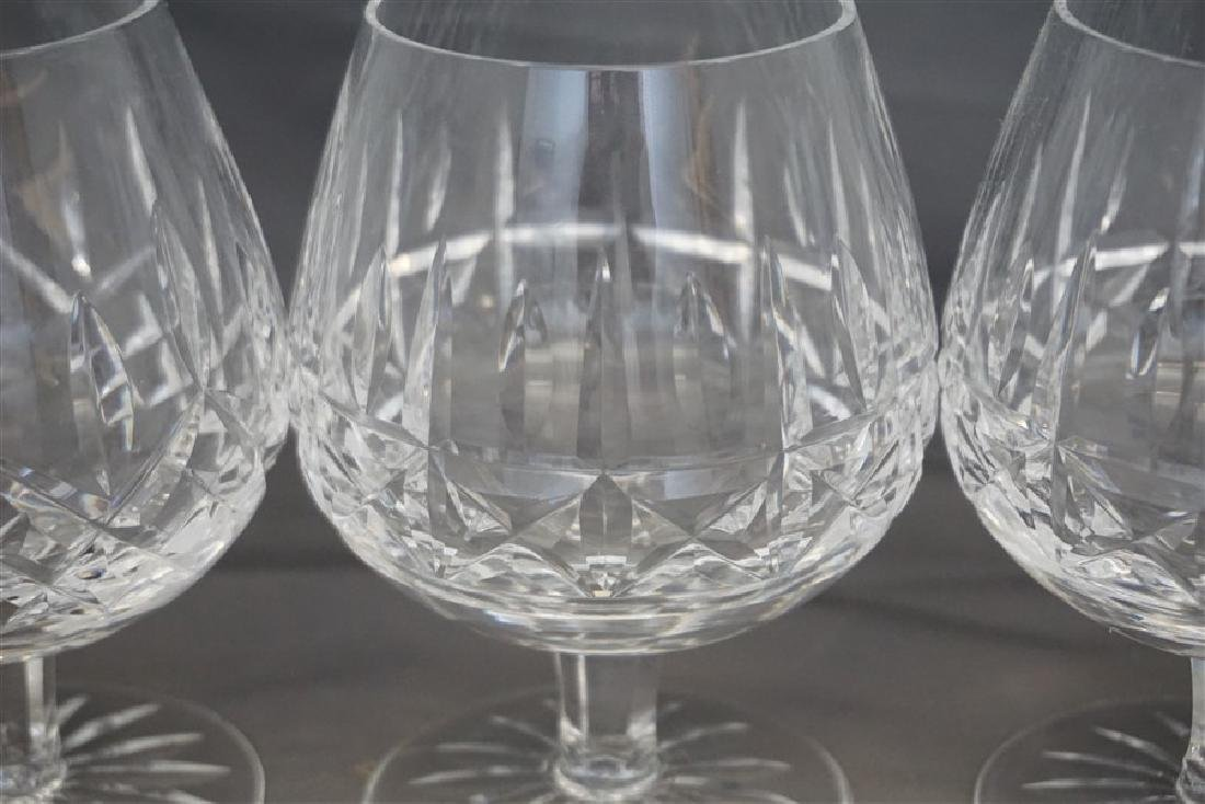 4PC WATERFORD CRYSTAL SNIFTERS - 4