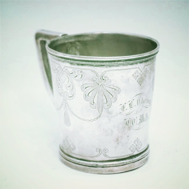 ANTIQUE CHARLESTON SC COIN SILVER CUP