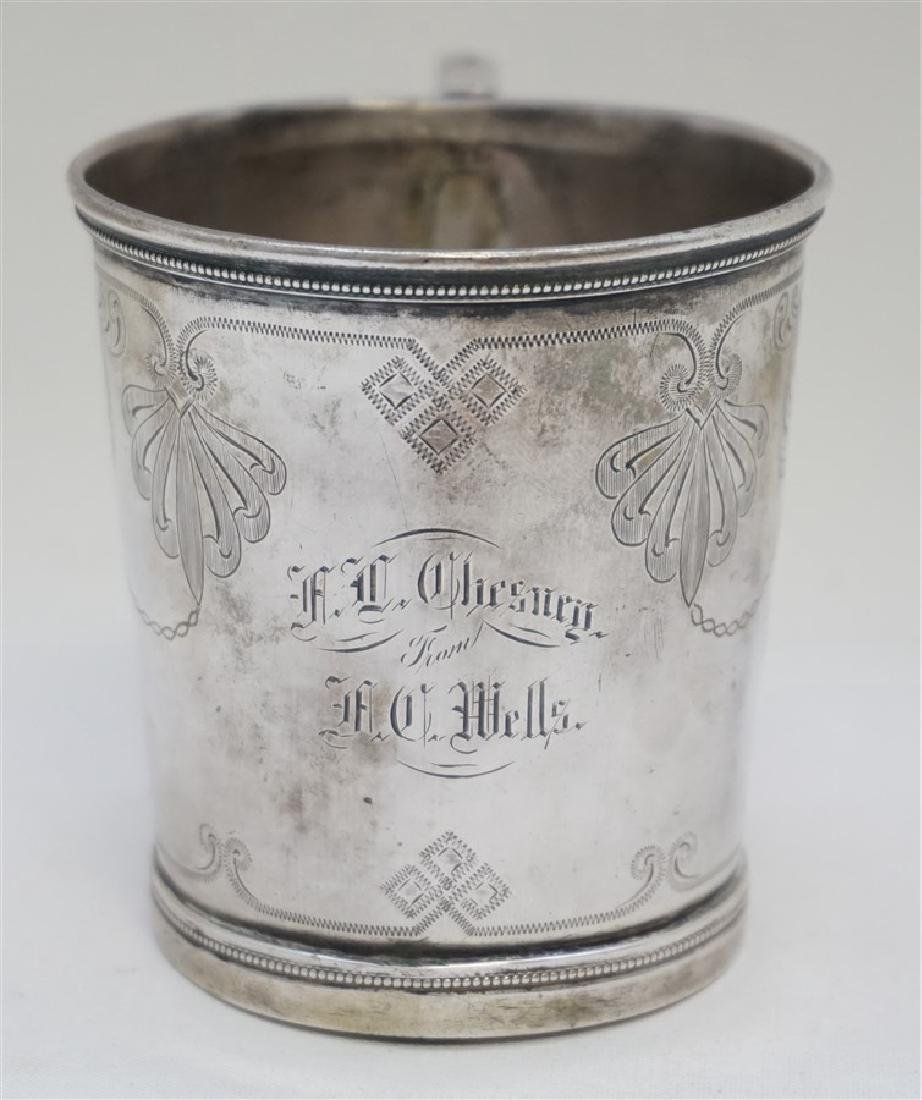 ANTIQUE CHARLESTON SC COIN SILVER CUP - 2