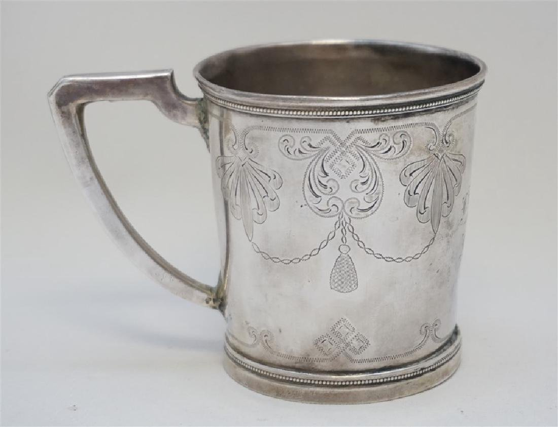 ANTIQUE CHARLESTON SC COIN SILVER CUP - 5