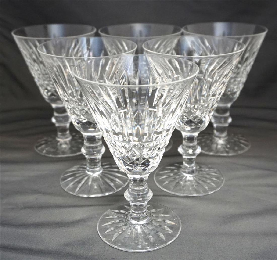 6 WATERFORD CRYSTAL TRAMORE CLARET WINE GLASSES