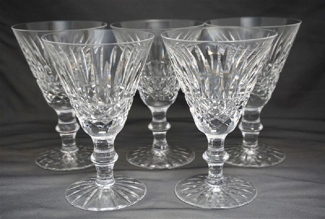 6 WATERFORD CRYSTAL TRAMORE CLARET WINE GLASSES - 4