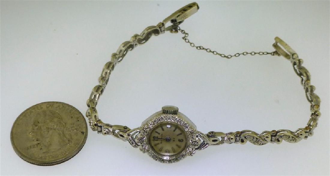 14KT WHITE GOLD BULOVA DIAMOND WATCH - 6