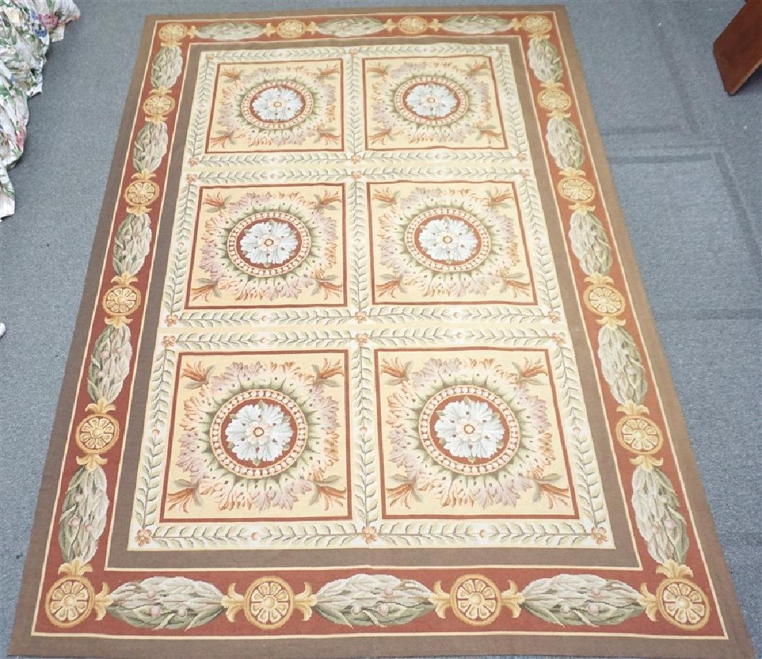 FRENCH SAVONNERIE RUG MEDALLIONS