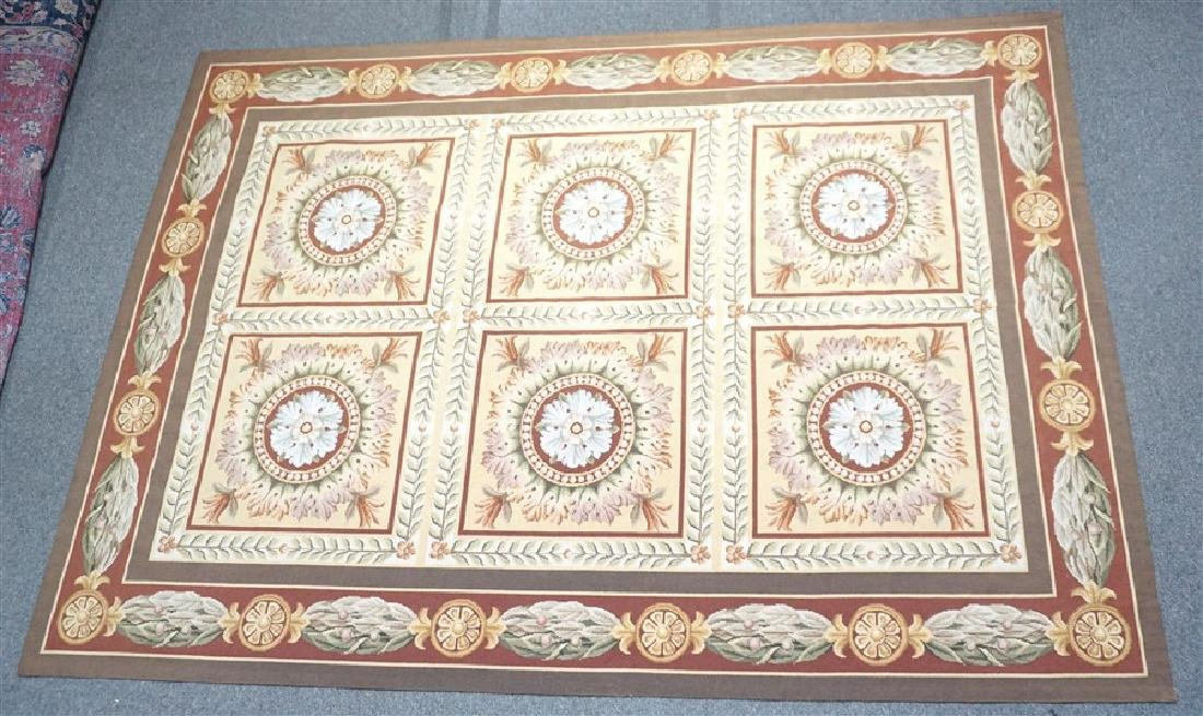 FRENCH SAVONNERIE RUG MEDALLIONS - 2
