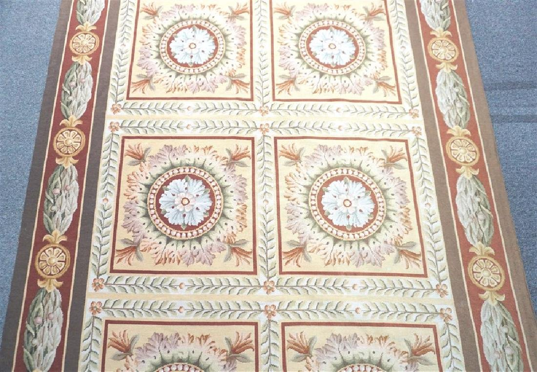 FRENCH SAVONNERIE RUG MEDALLIONS - 4