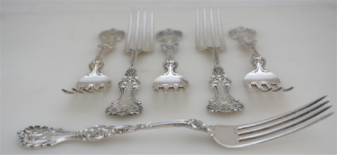 6 WHITING STERLING SILVER POMPADOUR FORKS - 6
