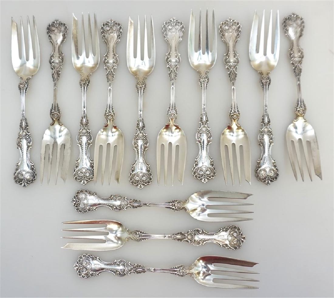 13 WHITING STERLING SILVER POMPADOUR FORKS