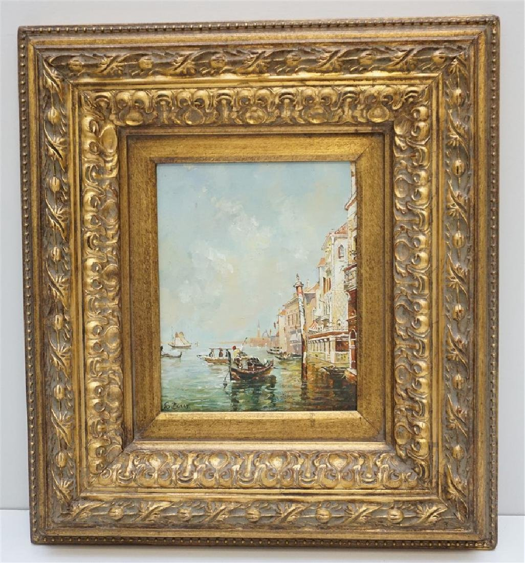 VENICE PAINTING OIL ON CANVAS SIGNED S. BOWE
