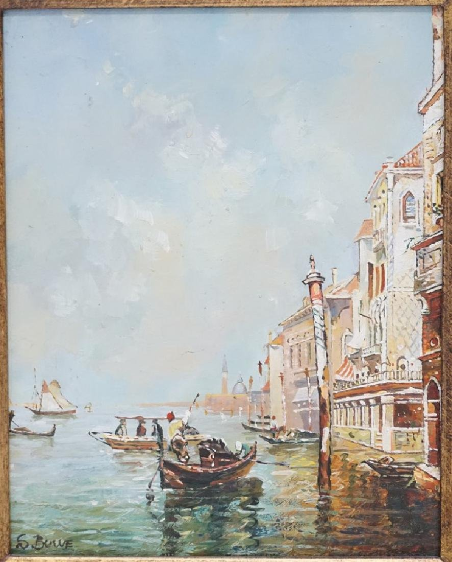 VENICE PAINTING OIL ON CANVAS SIGNED S. BOWE - 2