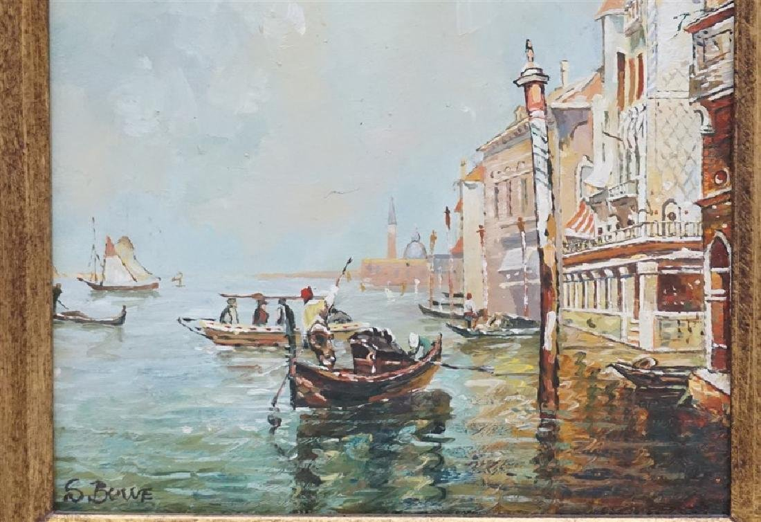 VENICE PAINTING OIL ON CANVAS SIGNED S. BOWE - 3