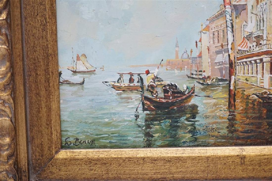 VENICE PAINTING OIL ON CANVAS SIGNED S. BOWE - 4