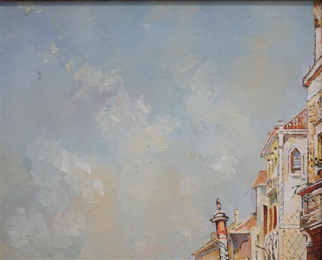 VENICE PAINTING OIL ON CANVAS SIGNED S. BOWE - 5