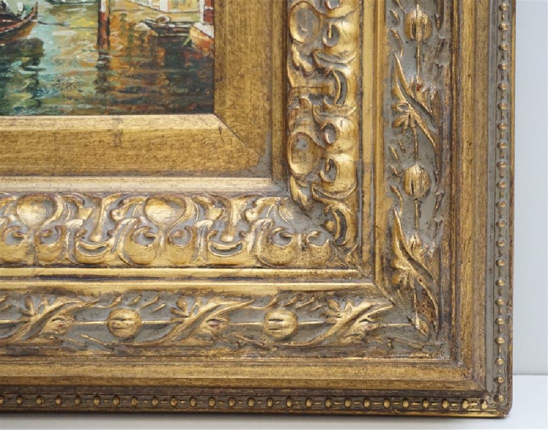 VENICE PAINTING OIL ON CANVAS SIGNED S. BOWE - 6