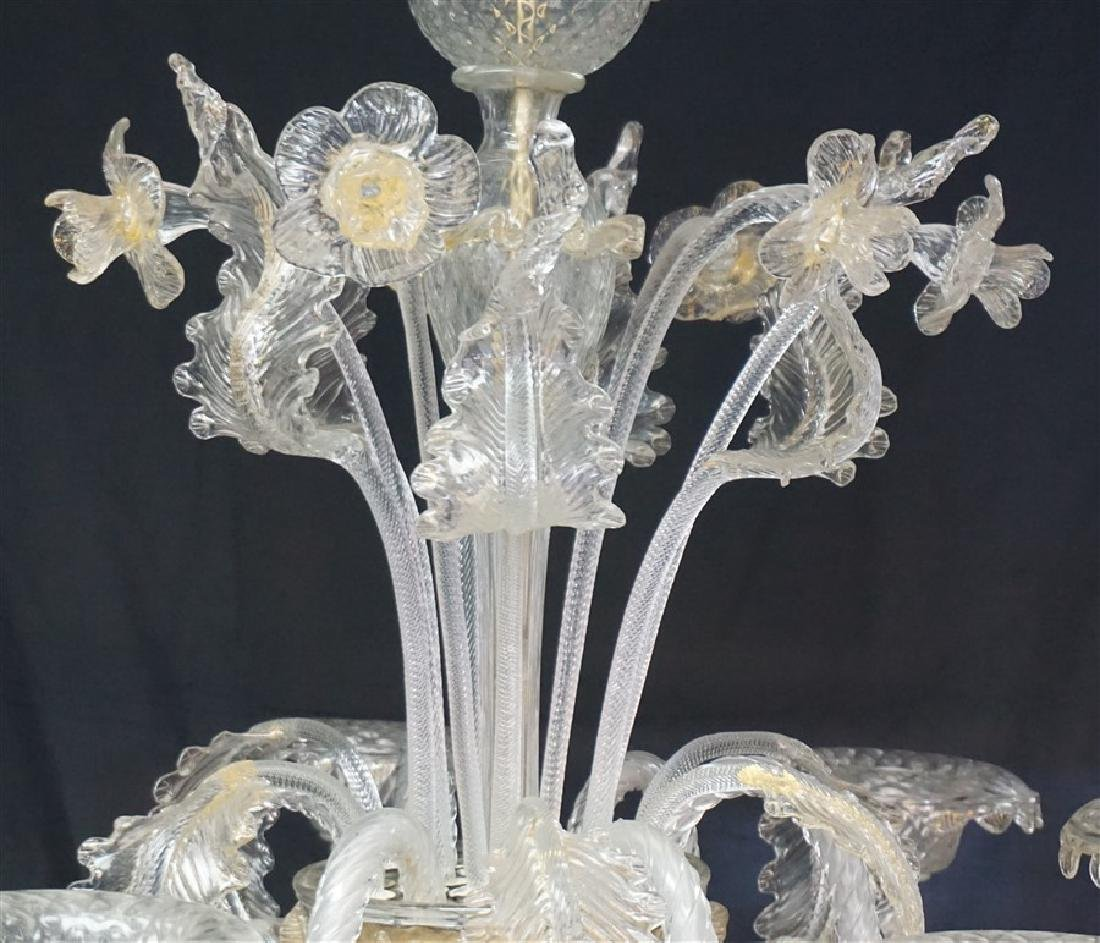 MURANO ITALIAN ART GLASS CHANDELIER - 2