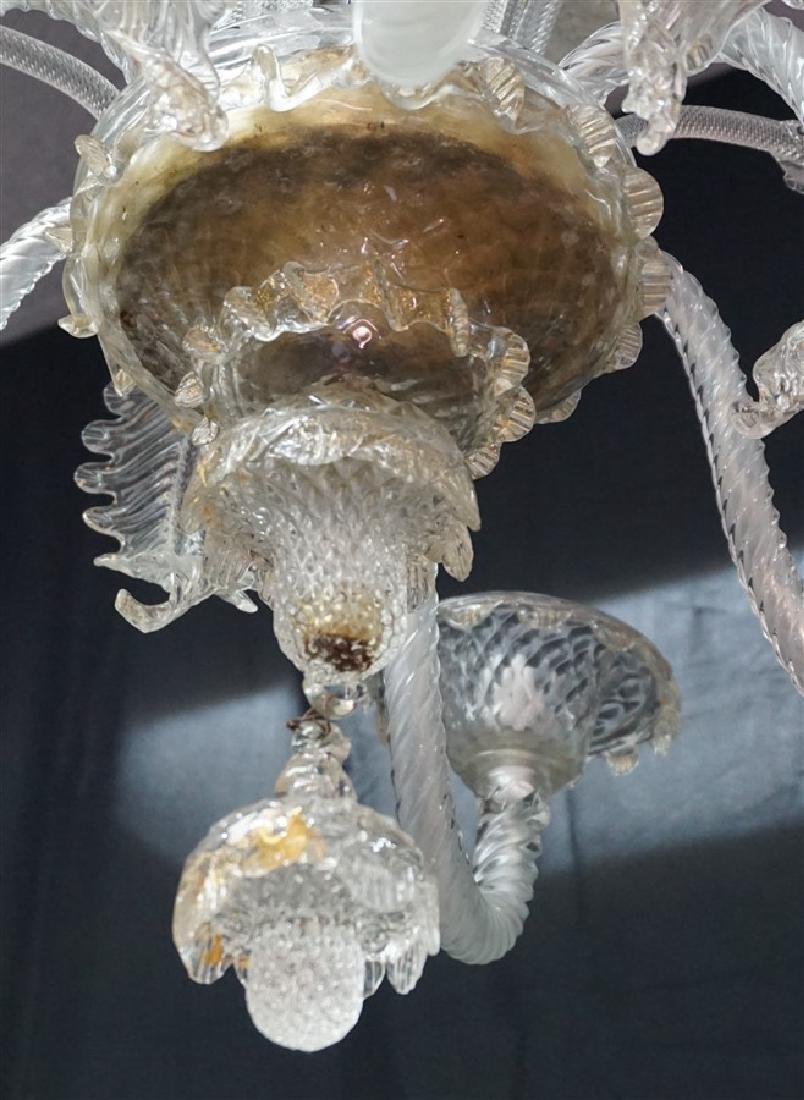MURANO ITALIAN ART GLASS CHANDELIER - 5