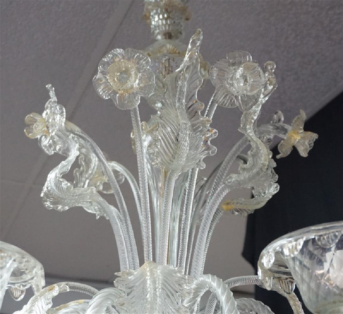 MURANO ITALIAN ART GLASS CHANDELIER - 6