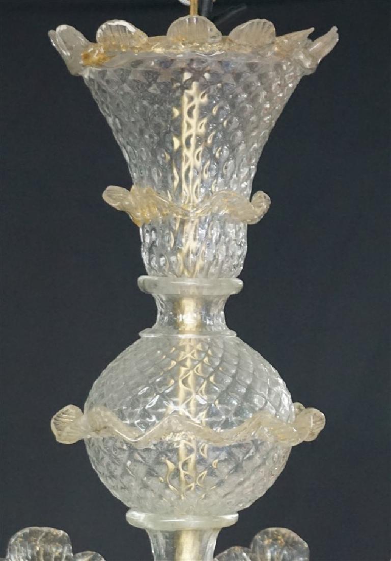 MURANO ITALIAN ART GLASS CHANDELIER - 8
