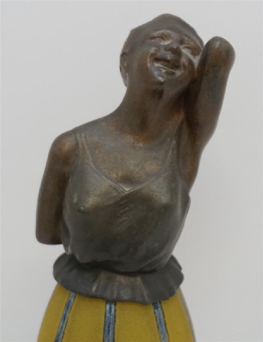 BREVETE ART DECO LADY LAMP GLASS SKIRT - 2