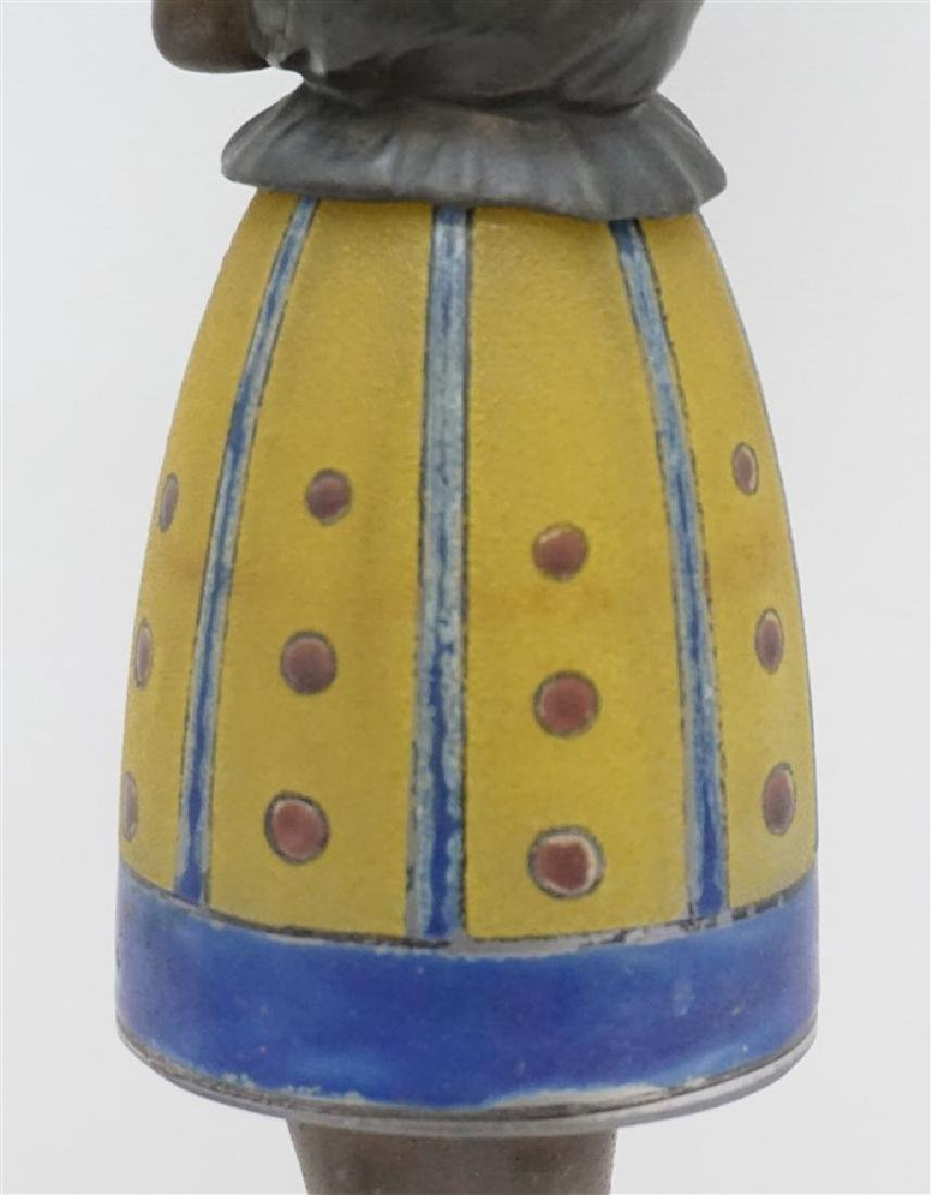 BREVETE ART DECO LADY LAMP GLASS SKIRT - 3