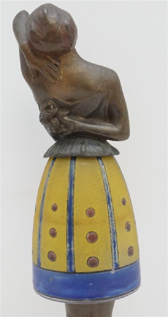BREVETE ART DECO LADY LAMP GLASS SKIRT - 6