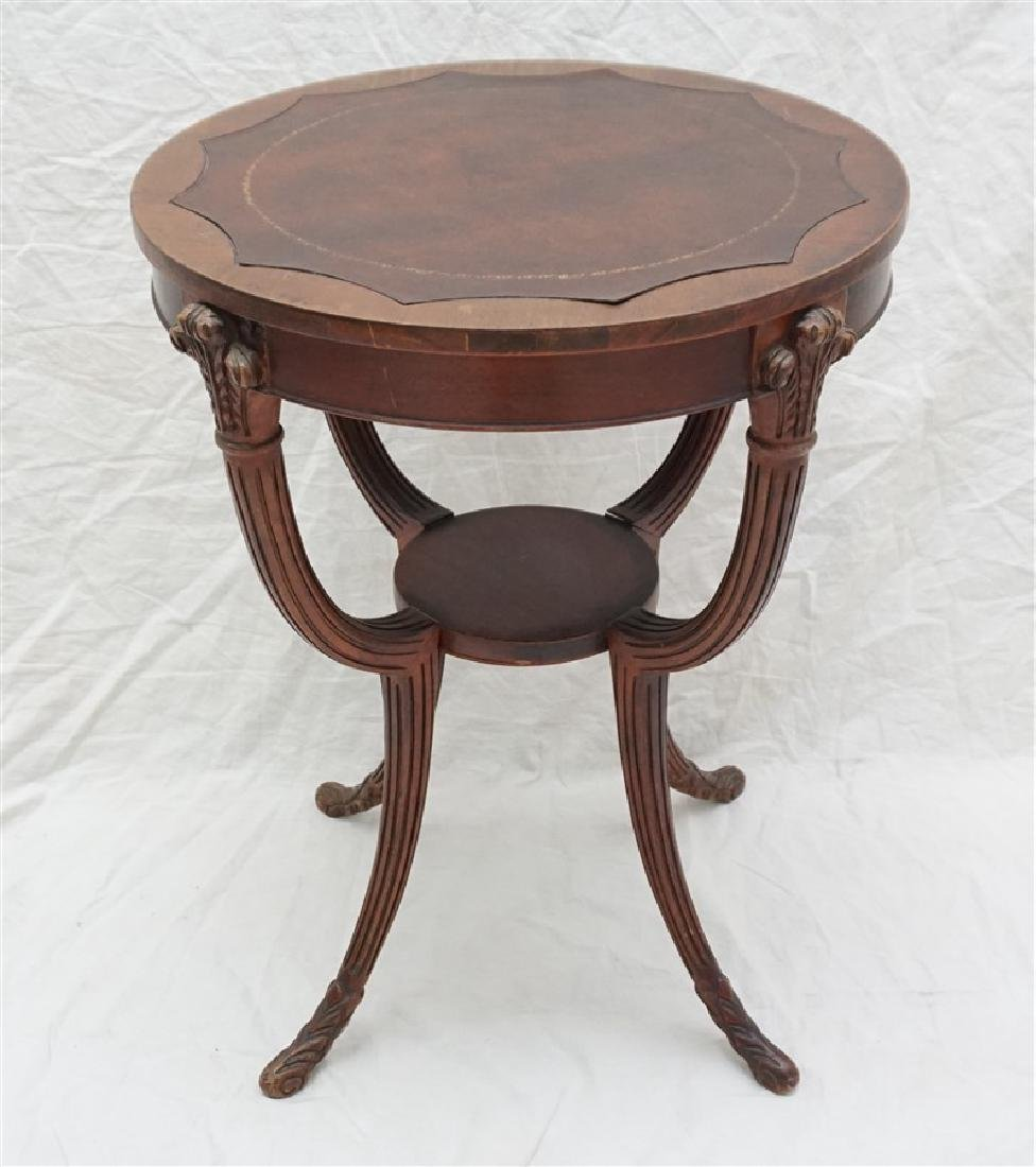 AMERICAN MAHOGANY OCCASIONAL TABLE