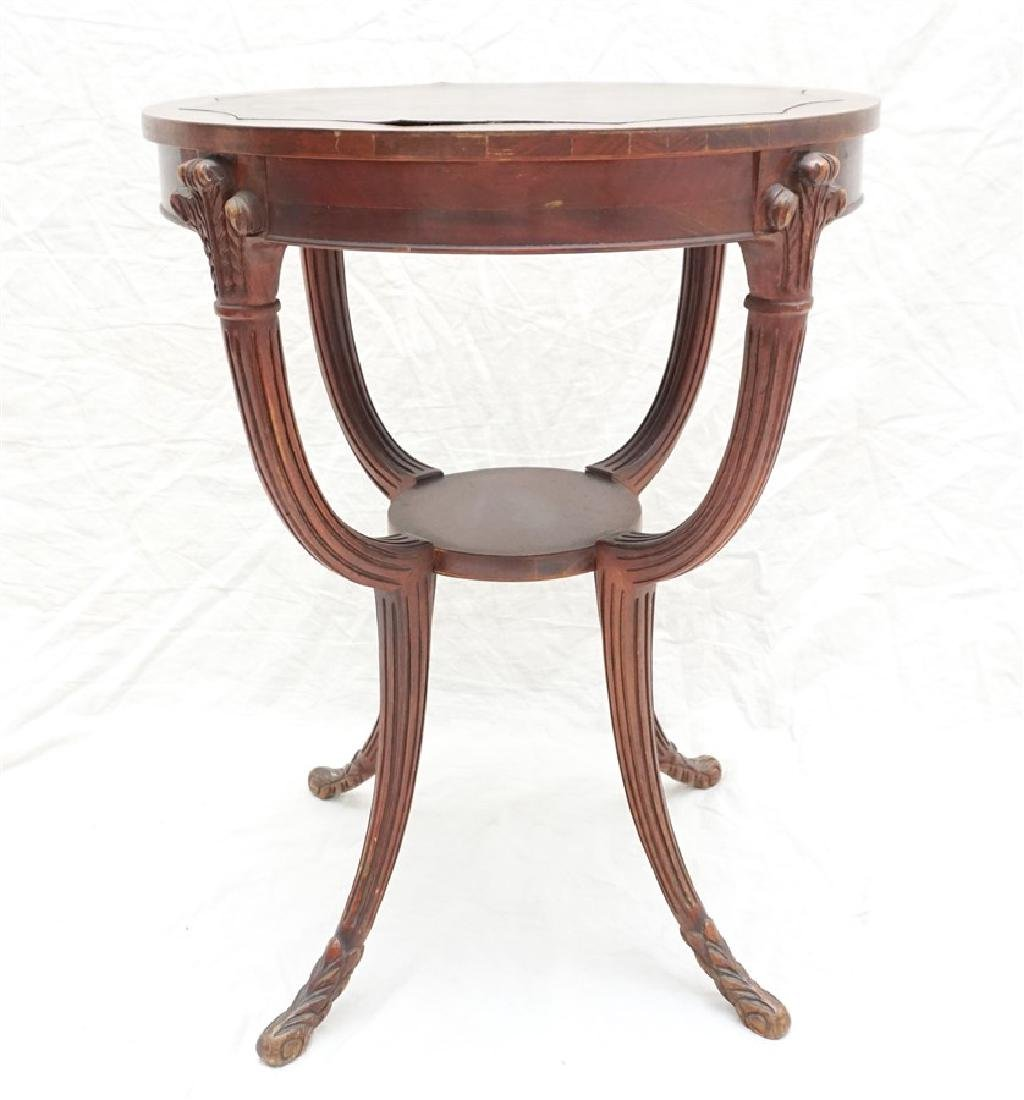 AMERICAN MAHOGANY OCCASIONAL TABLE - 9