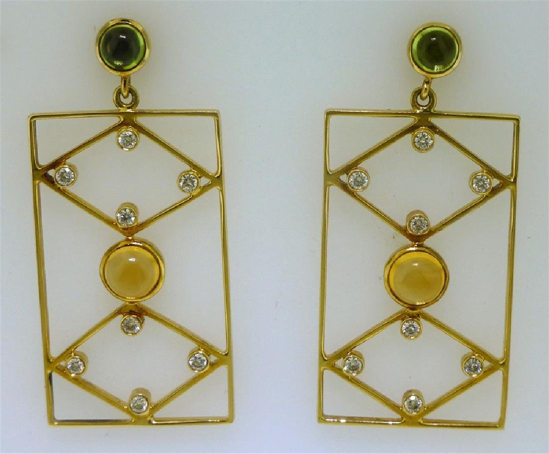 18KT GOLD DESIGNER EARRINGS (8.00 GRAMS)