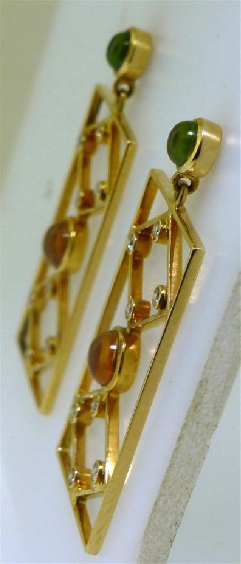 18KT GOLD DESIGNER EARRINGS (8.00 GRAMS) - 3