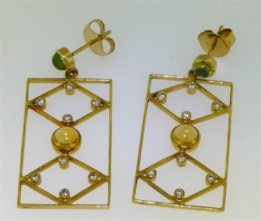 18KT GOLD DESIGNER EARRINGS (8.00 GRAMS) - 4
