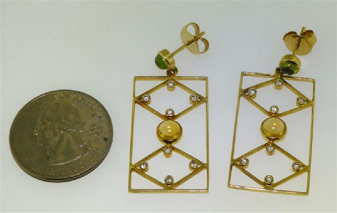 18KT GOLD DESIGNER EARRINGS (8.00 GRAMS) - 5