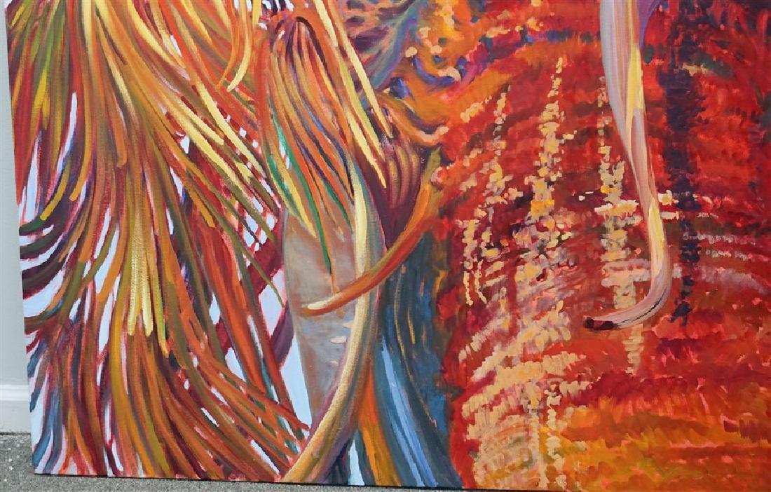 MARGARET PETTERSON OIL ON CANVAS PALM TREE CHARLESTON - 3
