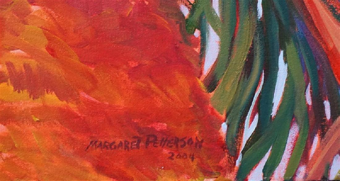 MARGARET PETTERSON OIL ON CANVAS PALM TREE CHARLESTON - 6