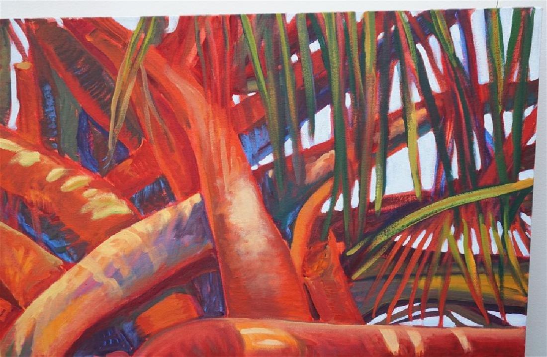 MARGARET PETTERSON OIL ON CANVAS PALM TREE CHARLESTON - 8