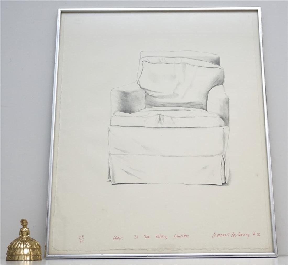 DAVID HOCKNEY SIGNED CHAIR 38 COLONY MALIBU - 6
