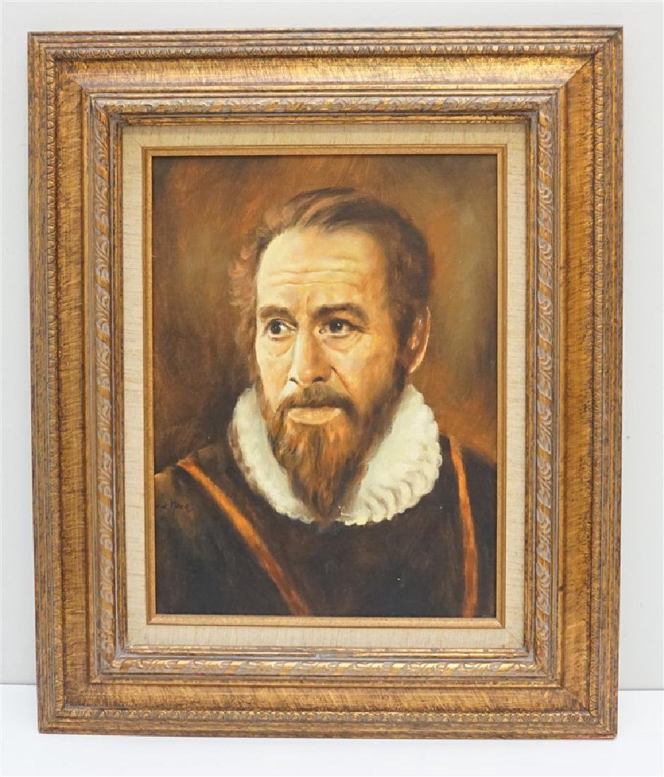 DUTCH OIL PORTRAIT AFTER VAN DER NEER