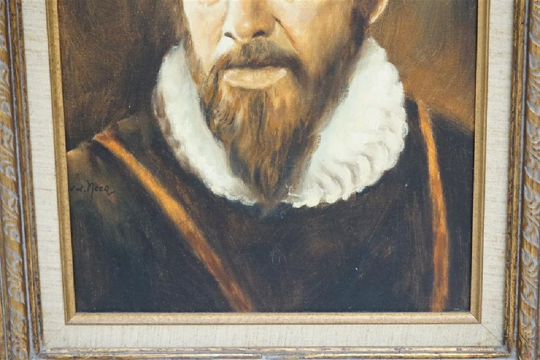 DUTCH OIL PORTRAIT AFTER VAN DER NEER - 6