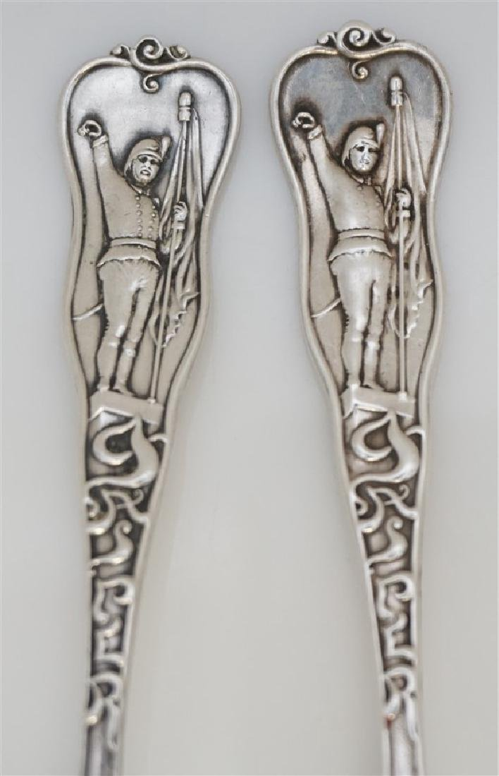 2 19th c STERLING SILVER CHARLESTON CITRUS SPOONS - 2