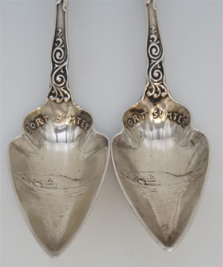 2 19th c STERLING SILVER CHARLESTON CITRUS SPOONS - 3