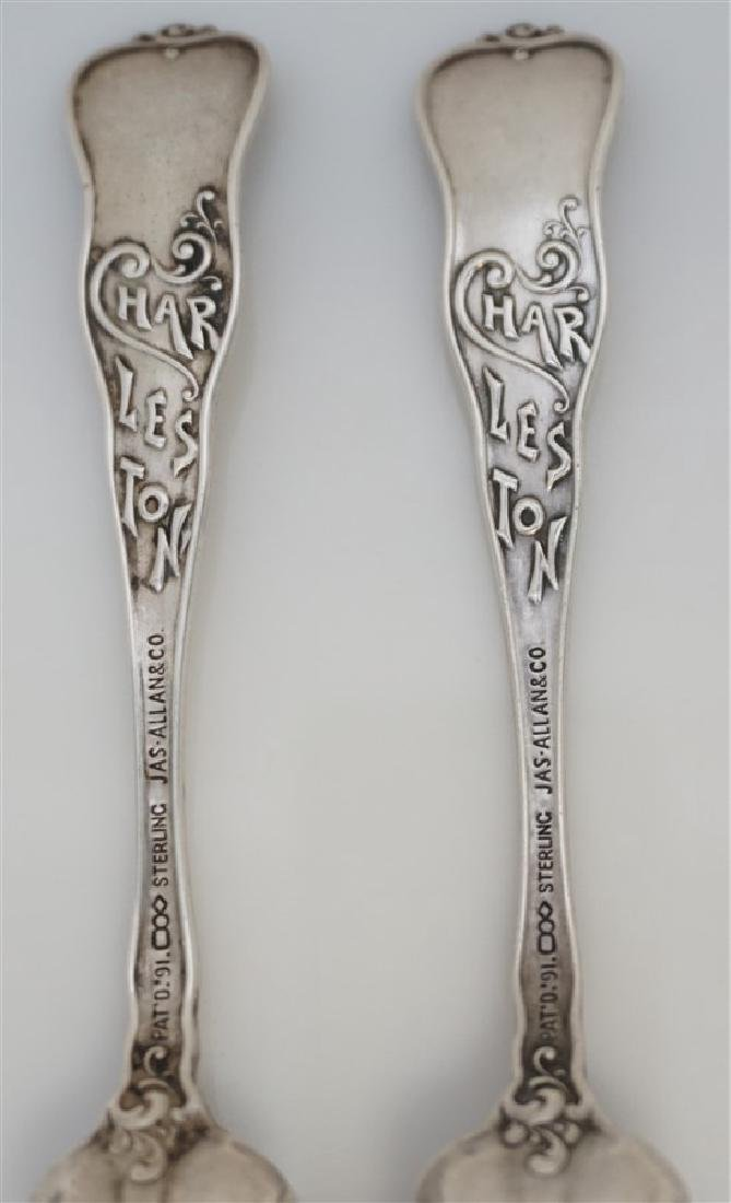 2 19th c STERLING SILVER CHARLESTON CITRUS SPOONS - 6