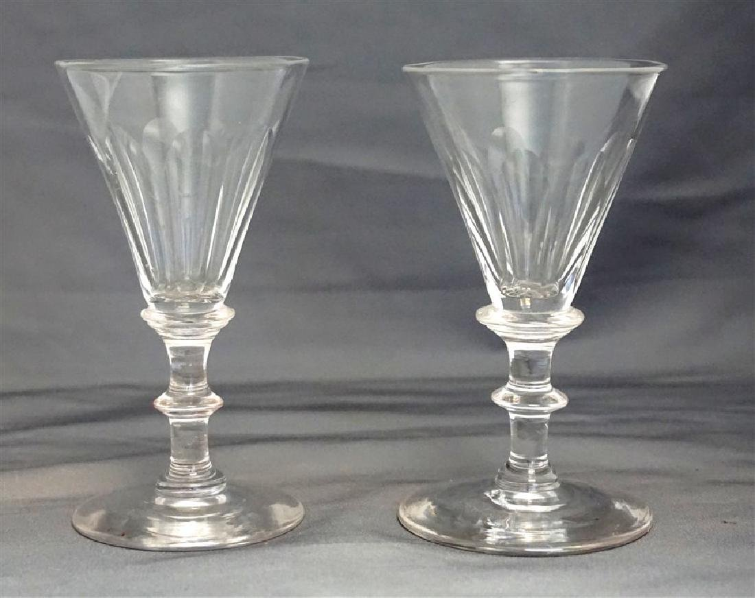 PAIR GEORGIAN c. 1800 PORT GLASSES