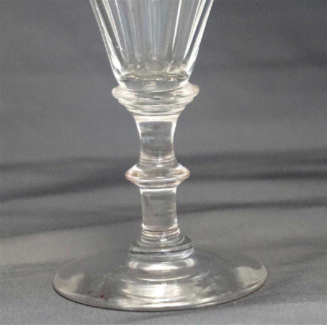 PAIR GEORGIAN c. 1800 PORT GLASSES - 3